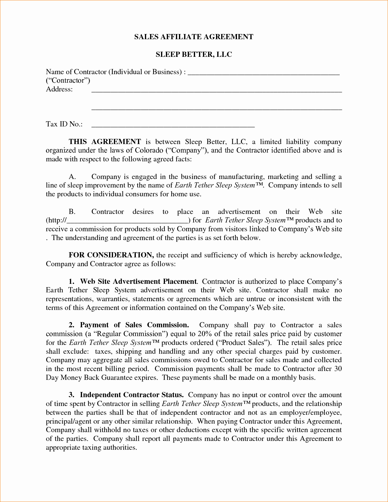 Commission Sales Agreement Template Free Inspirational 8 Mission Agreement Template