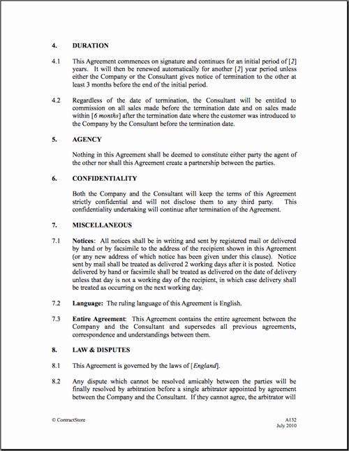 Commission Sales Agreement Template Free Inspirational Mission Agreement Templates