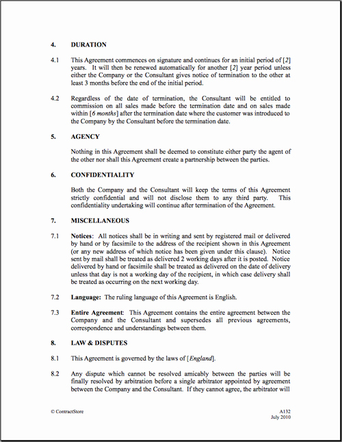 Commission Sales Agreement Template Free New 6 Best Of Mission Agreement Letter Sales