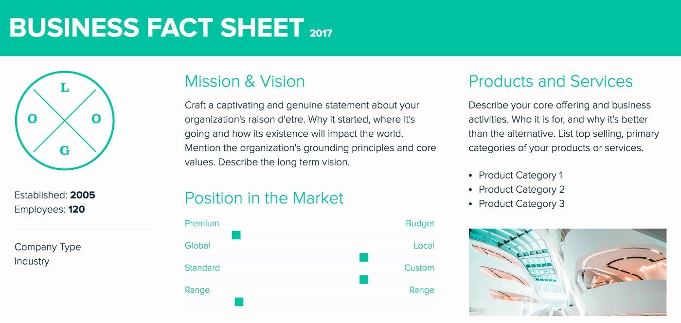 Company Info Sheet Template Beautiful How to Create A Fact Sheet