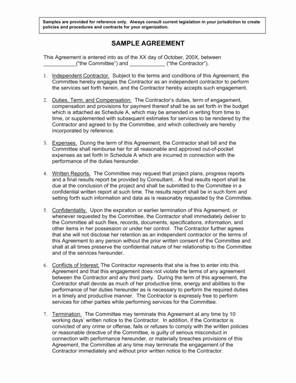Compensation Agreement Template Free Awesome 10 Pensation Agreement Template – Pdf