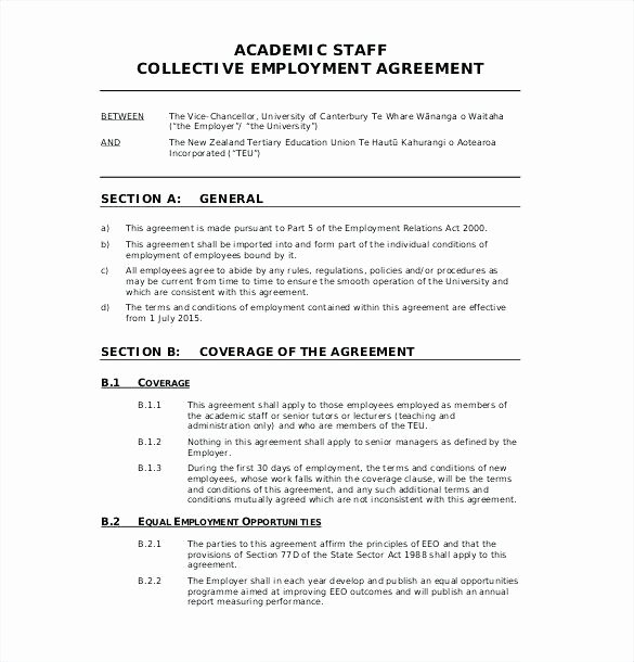 Compensation Agreement Template Free New Employment Agreement Sample Nz Template Employee Contract