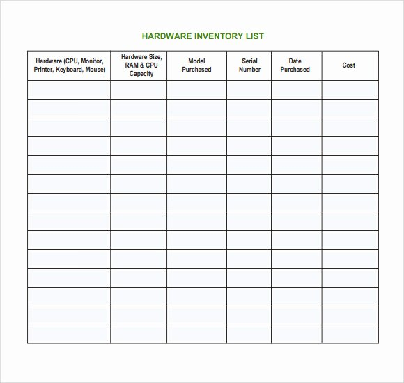 Computer Hardware Inventory Excel Template Luxury 7 It Inventory Templates