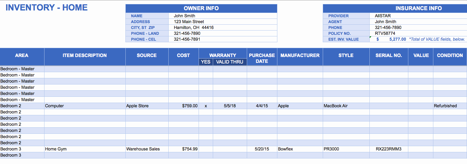 Computer Inventory Excel Template Awesome Free Excel Inventory Templates