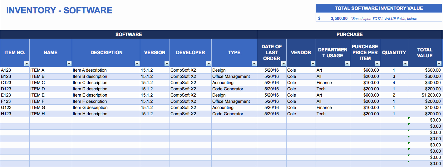 Computer Inventory Excel Template New Free Excel Inventory Templates