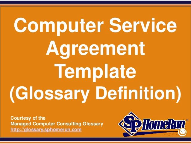 Computer Repair Agreement Template Beautiful Puter Service Agreement Template Glossary Definition