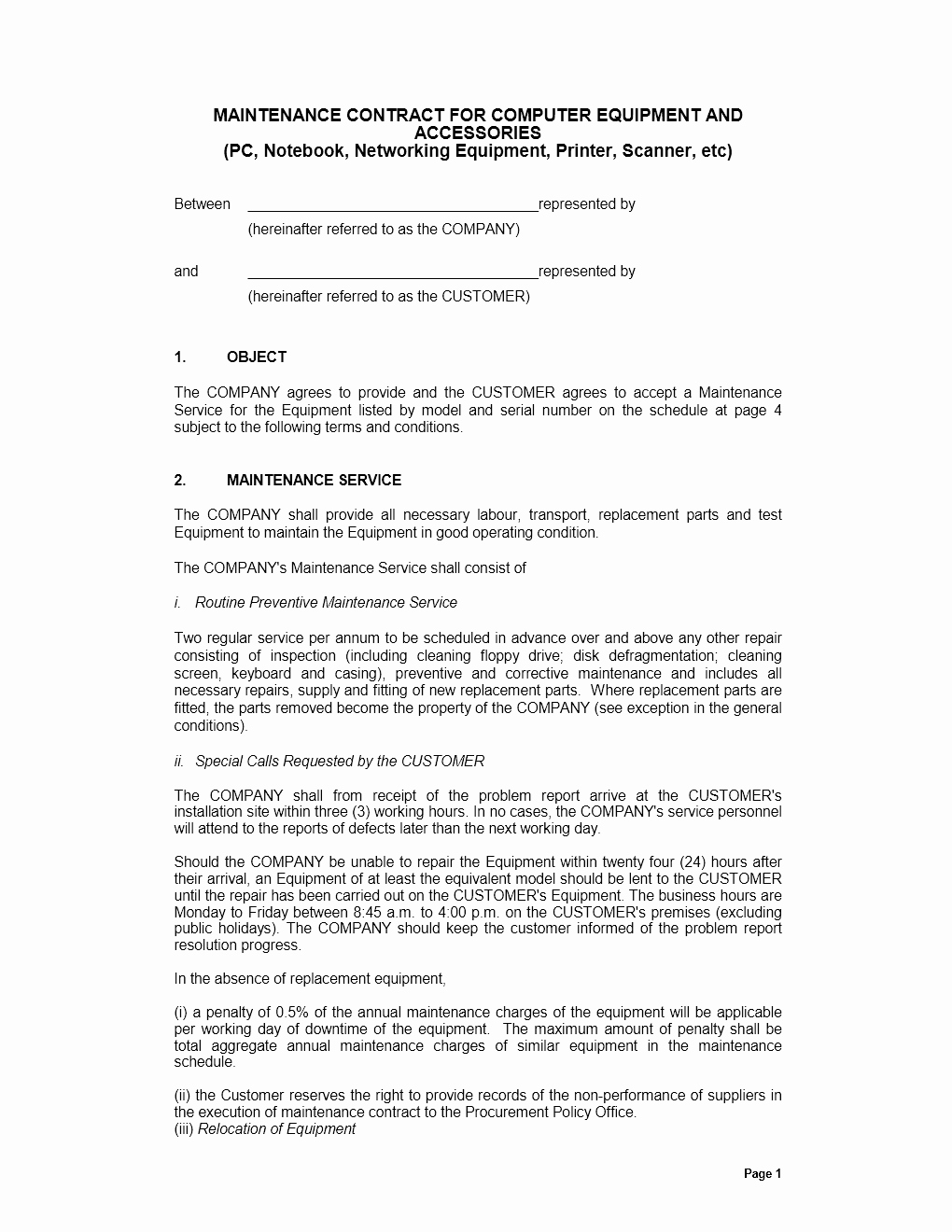 Computer Repair Agreement Template Best Of Agreement Archives Page 2 Of 5