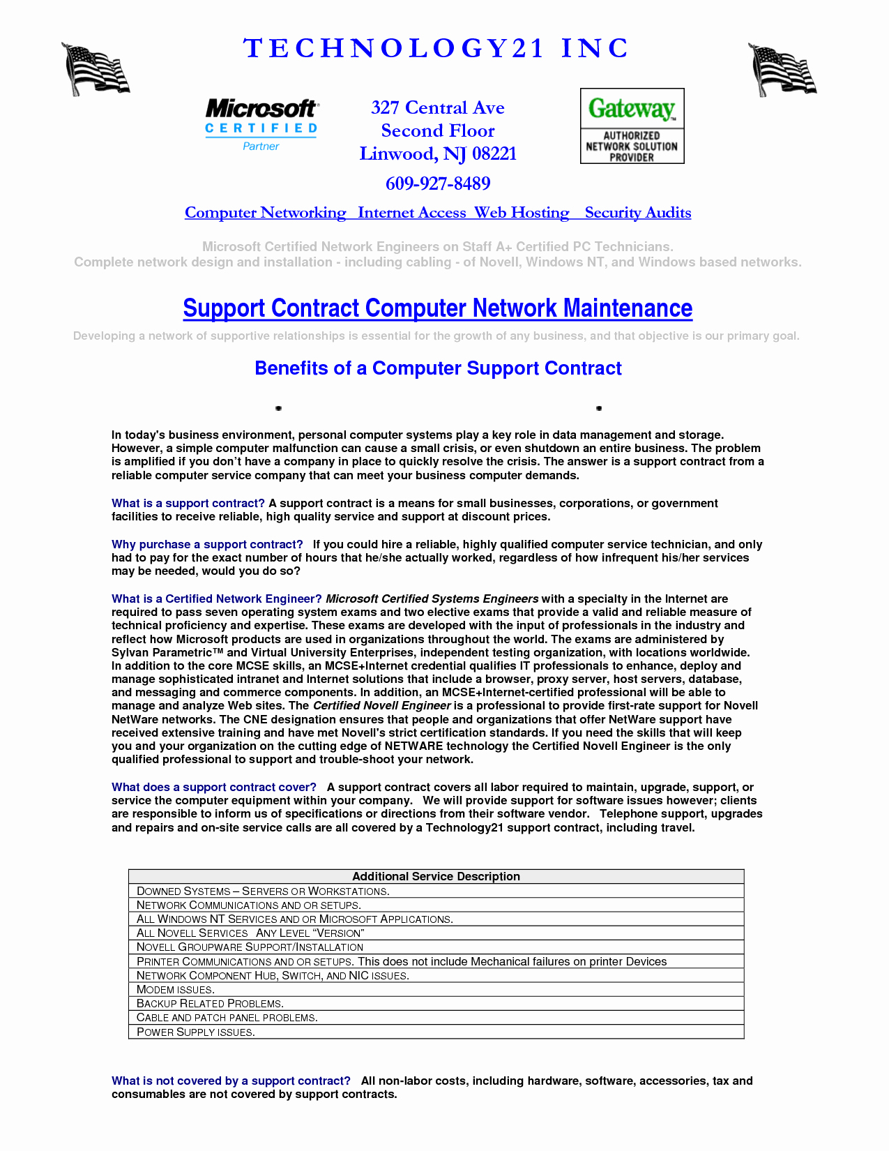 Computer Repair Agreement Template Elegant Puter Maintenance Contract Sample Free Printable