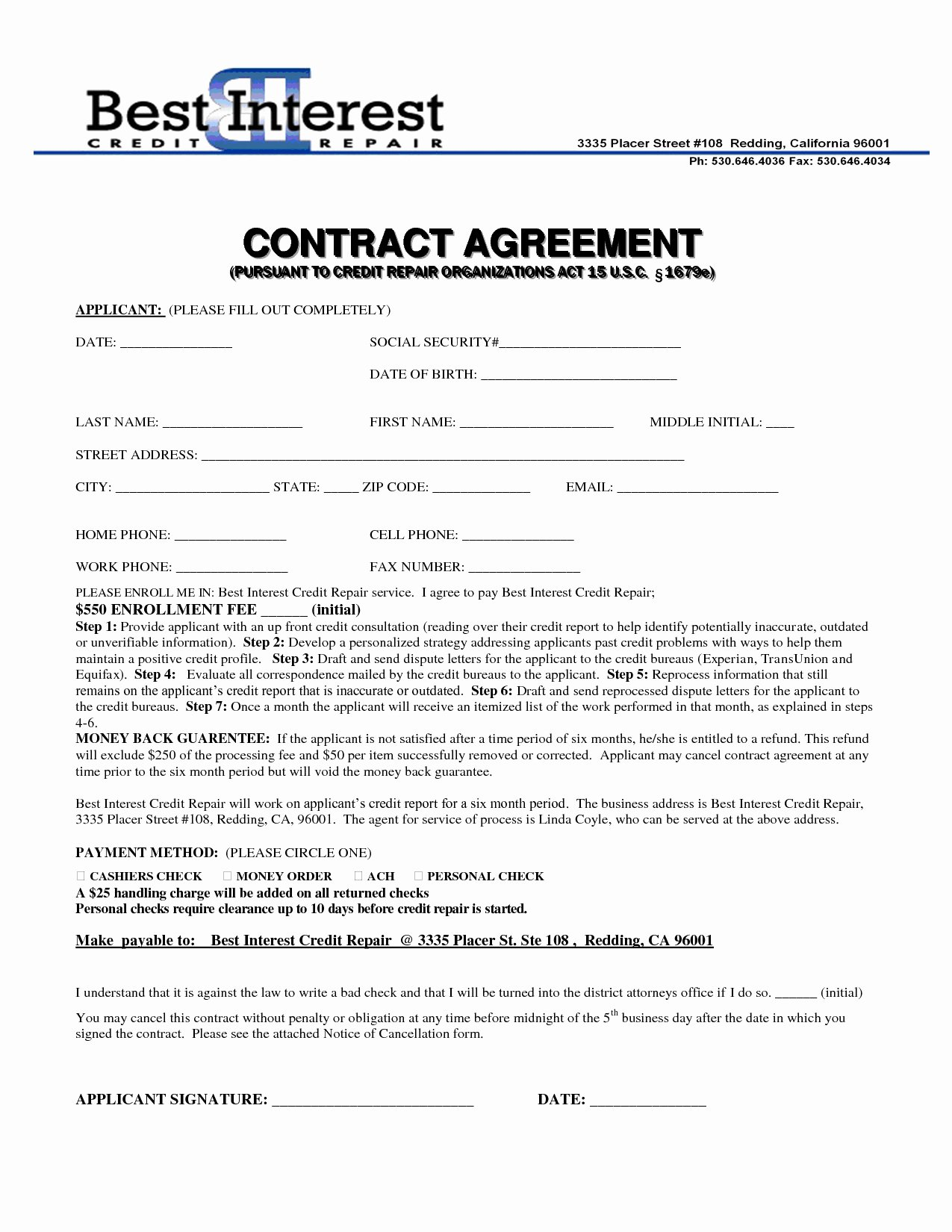 Computer Repair Agreement Template Lovely Goodwill Letter Template to Remove Paid Collections