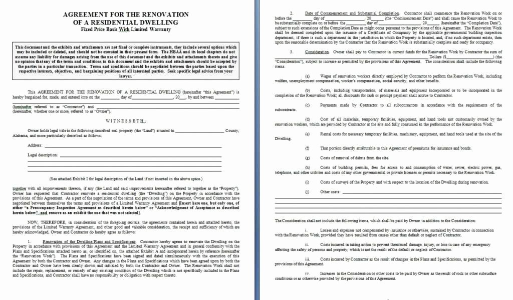 Computer Repair Agreement Template Unique Home Repair Contract Template