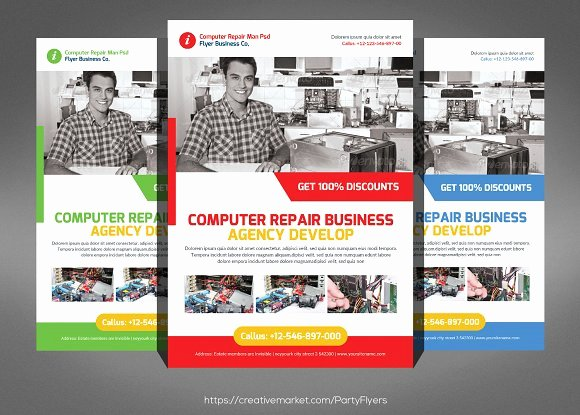 Computer Repair Flyer Template Awesome Puter Repair Flyer Templates Flyer Templates