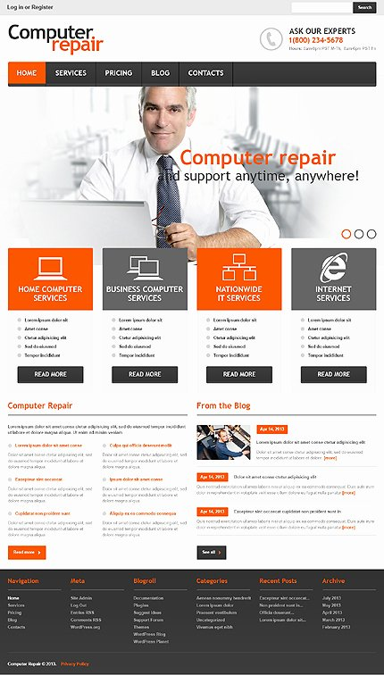 Computer Repair Flyer Template Beautiful 16 Psd Brochure Puter Rentals Templates