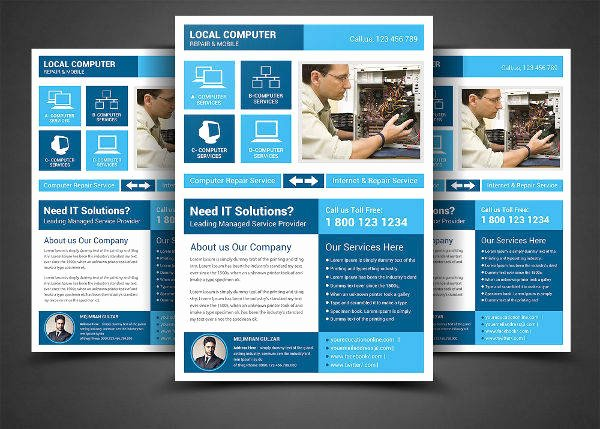 Computer Repair Flyer Template Beautiful 17 Service Flyers
