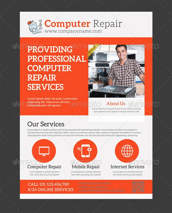 Computer Repair Flyer Template Beautiful 25 Puter Repair Flyer Templates Psd Ai Eps format