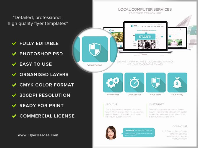Computer Repair Flyer Template Best Of Puter Services Flyer Template Flyerheroes