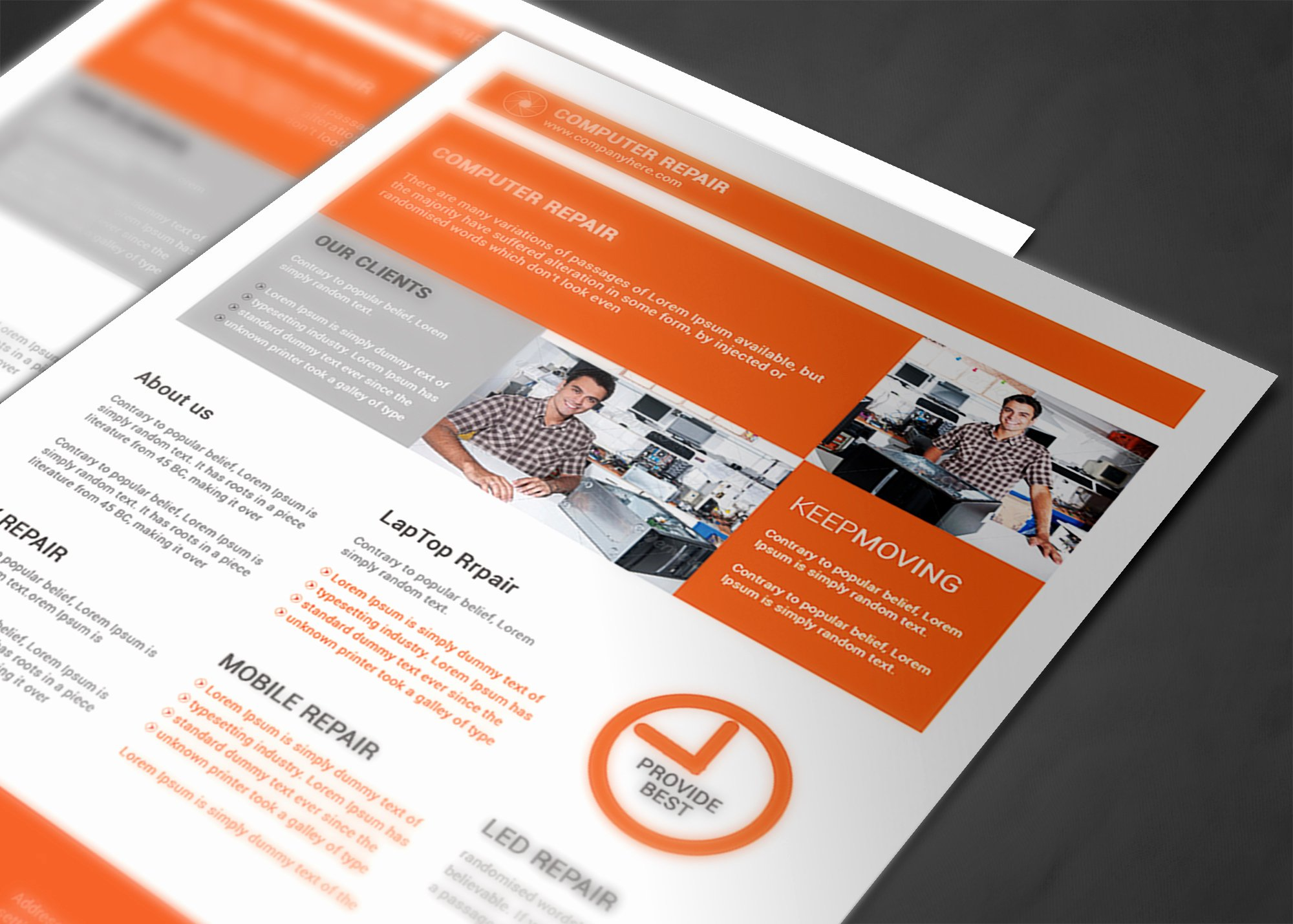 Computer Repair Flyer Template Elegant Puter Repair Flyer Template Flyer Templates On