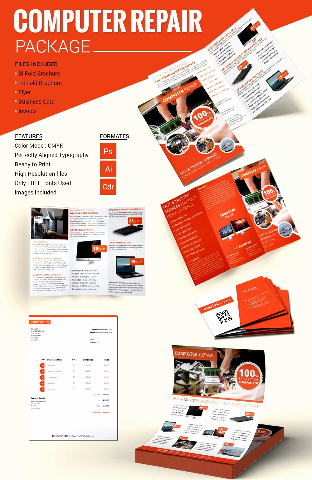 Computer Repair Flyer Template Elegant Puter Repair Flyer Template Free Psd Ai format Downl