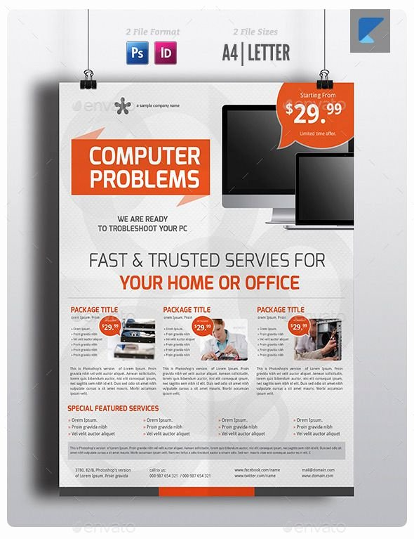 Computer Repair Flyer Template Fresh 99 Best Service Flyer Templates Images On Pinterest