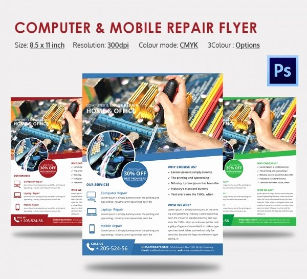 Computer Repair Flyer Template Fresh Puter Repair Flyer Template – 21 Free Psd Ai format