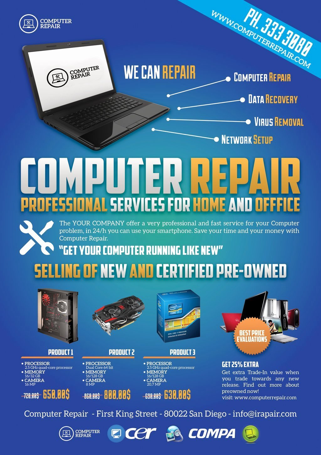 Computer Repair Flyer Template Fresh Puter Repair Flyers Word Excel Samples