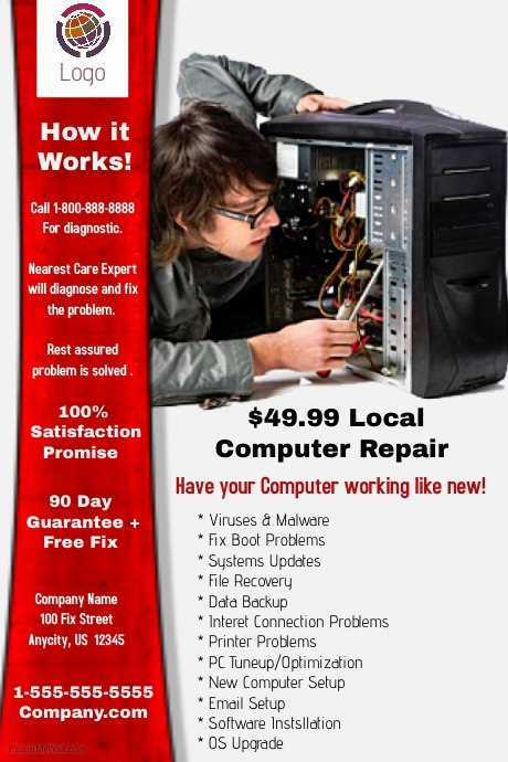 Computer Repair Flyer Template Fresh Puter Repair Template