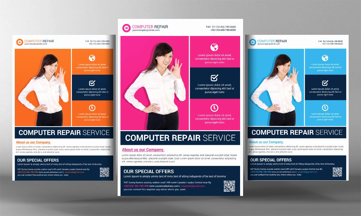 Computer Repair Flyer Template Inspirational Puter Repair Flyer Template Flyer Templates On