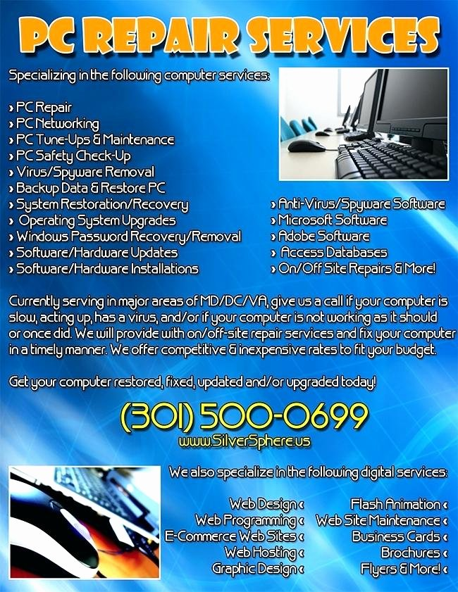 Computer Repair Flyer Template Inspirational Puter Repair Flyer Template Free Puter Repair Flyer