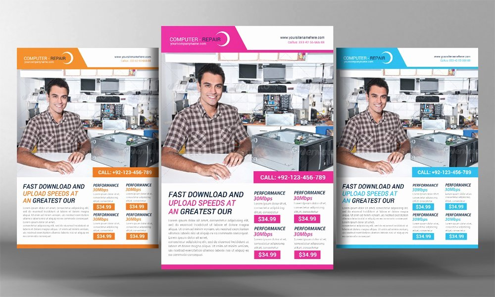 Computer Repair Flyer Template Lovely Puter Repair Flyer Template Flyer Templates