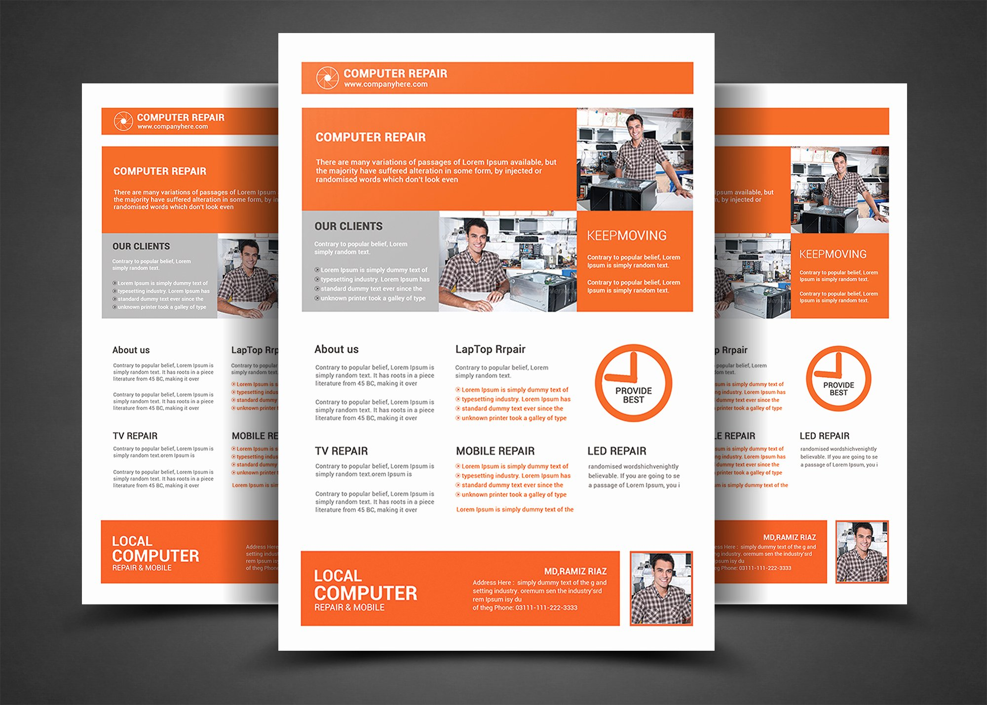 Computer Repair Flyer Template Lovely Puter Repair Flyer Template Flyer Templates On