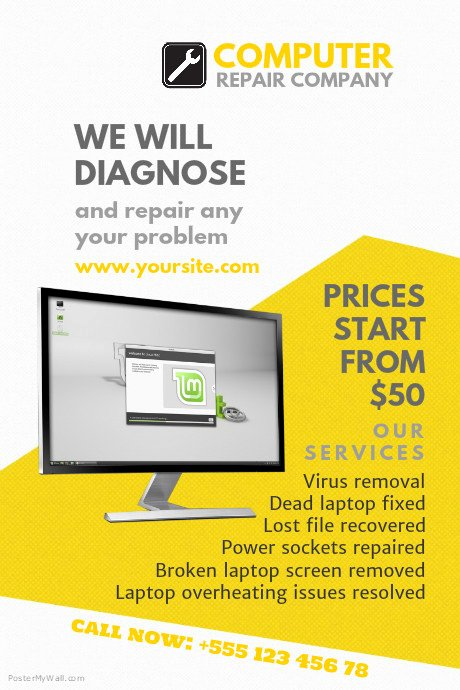 Computer Repair Flyer Template Lovely Puter Repair Flyer Templates