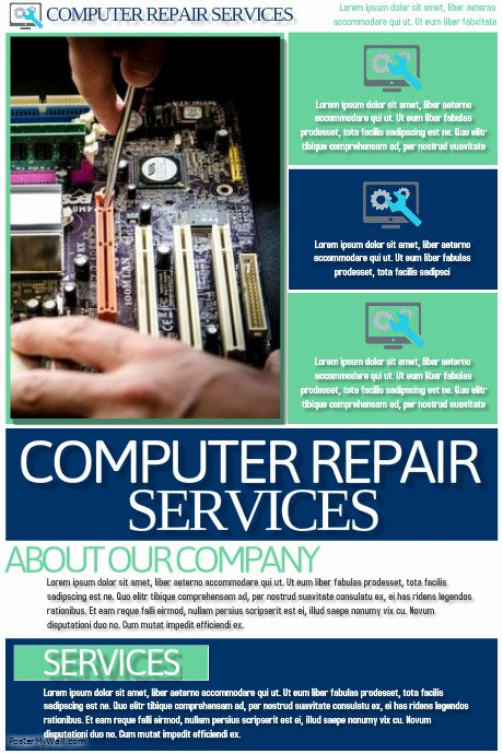 Computer Repair Flyer Template Lovely Puter Repair Services Template