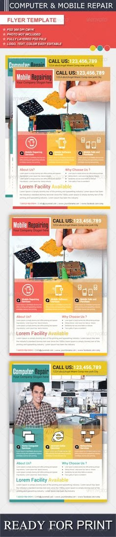 Computer Repair Flyer Template Luxury Multipurpose Sales Flyer Template
