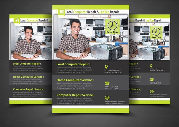 Computer Repair Flyer Template Luxury Puter Repair Flyer Template Flyer Templates On