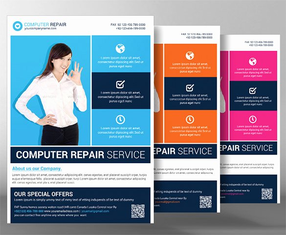 Computer Repair Flyer Template Unique 25 Puter Repair Flyer Templates Psd Ai Eps format