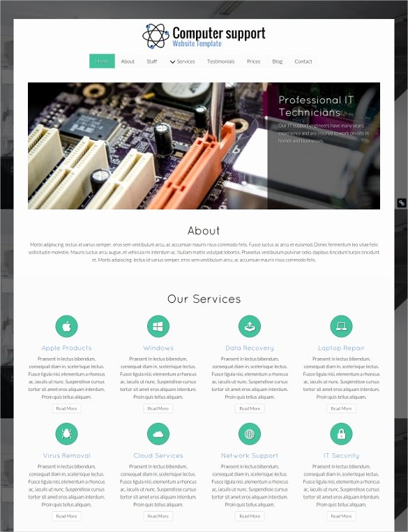 Computer Repair Website Template Awesome 28 Puter Repair Website themes & Templates
