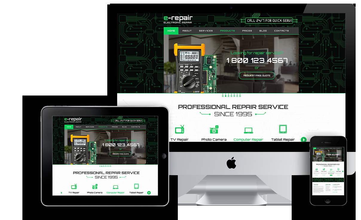 Computer Repair Website Template Awesome Electronic Repair Wordpress Template Id From