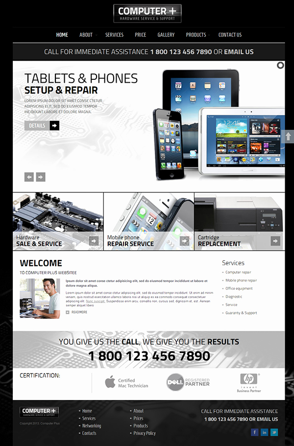 Computer Repair Website Template Awesome Pc Repair Hardware Service & Support Joomla Template On