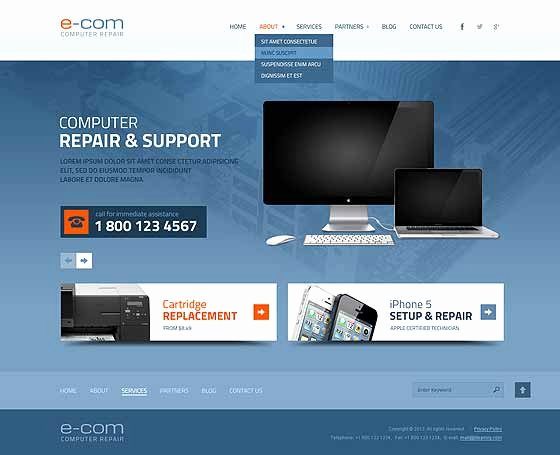 Computer Repair Website Template Awesome Puter Repair Website Templates Pc Repair themes