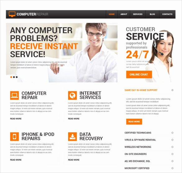 Computer Repair Website Template Best Of 28 Puter Repair Website themes & Templates