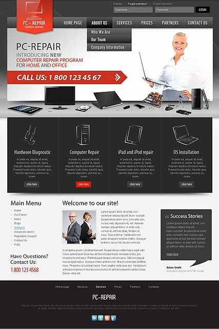 Computer Repair Website Template Best Of Free Puter Repair Template 9 Adorable Puter Repair