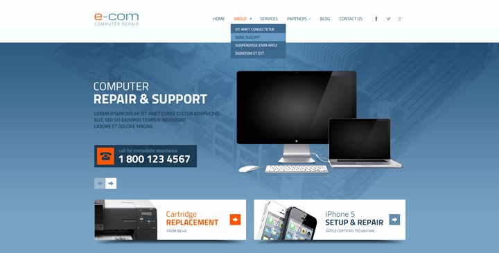 Computer Repair Website Template Elegant 5 top Ranked Puter Repair Website Templates
