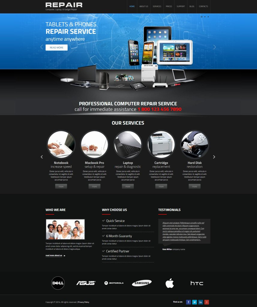 Computer Repair Website Template Fresh Web I Templates