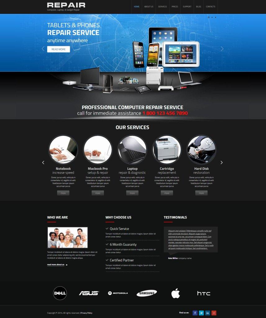 Computer Repair Website Template Fresh Web I Templates