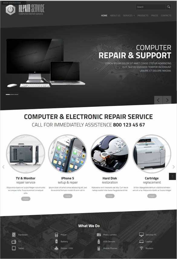 Computer Repair Website Template Inspirational 28 Puter Repair Website themes & Templates