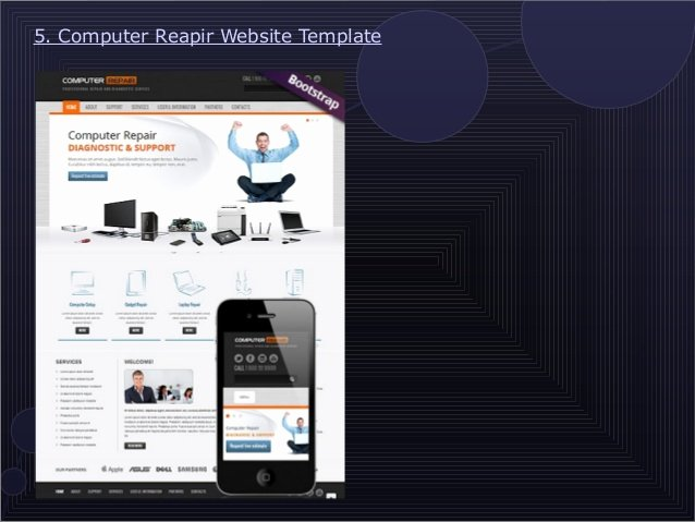 Computer Repair Website Template Inspirational 9 attractive Puter Repair Website Templates