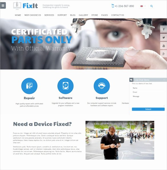 Computer Repair Website Template Lovely 28 Puter Repair Website themes & Templates