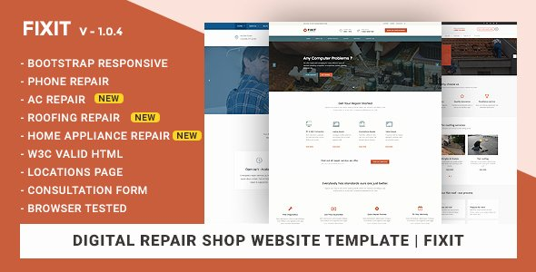 Computer Repair Website Template New Phone Puter Repair Shop Website Template