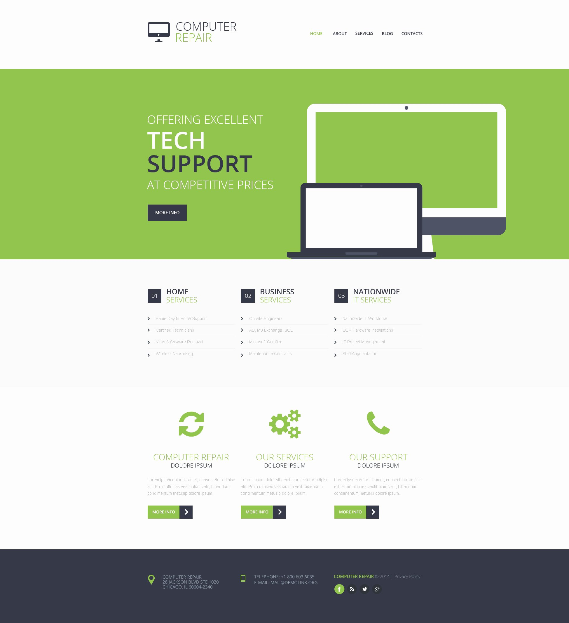 Computer Repair Website Template New Puter Repair Responsive Website Template