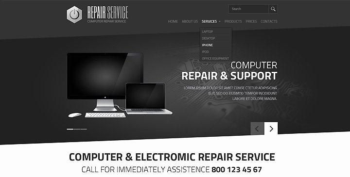 Computer Repair Website Template Unique 5 top Ranked Puter Repair Website Templates