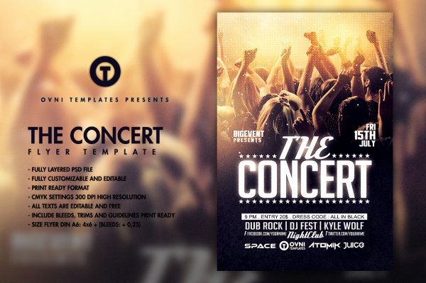 Concert Flyer Template Psd Awesome 32 Concert Flyer Templates Psd Vector Eps Jpg